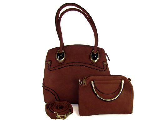 16dc008bbc36 Набор сумок D6409-12 коричневый (сумка+сумка) купить в Украине по ...